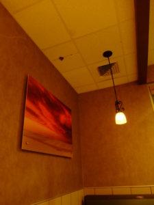 マクドナルドの壁にかかっていた絵